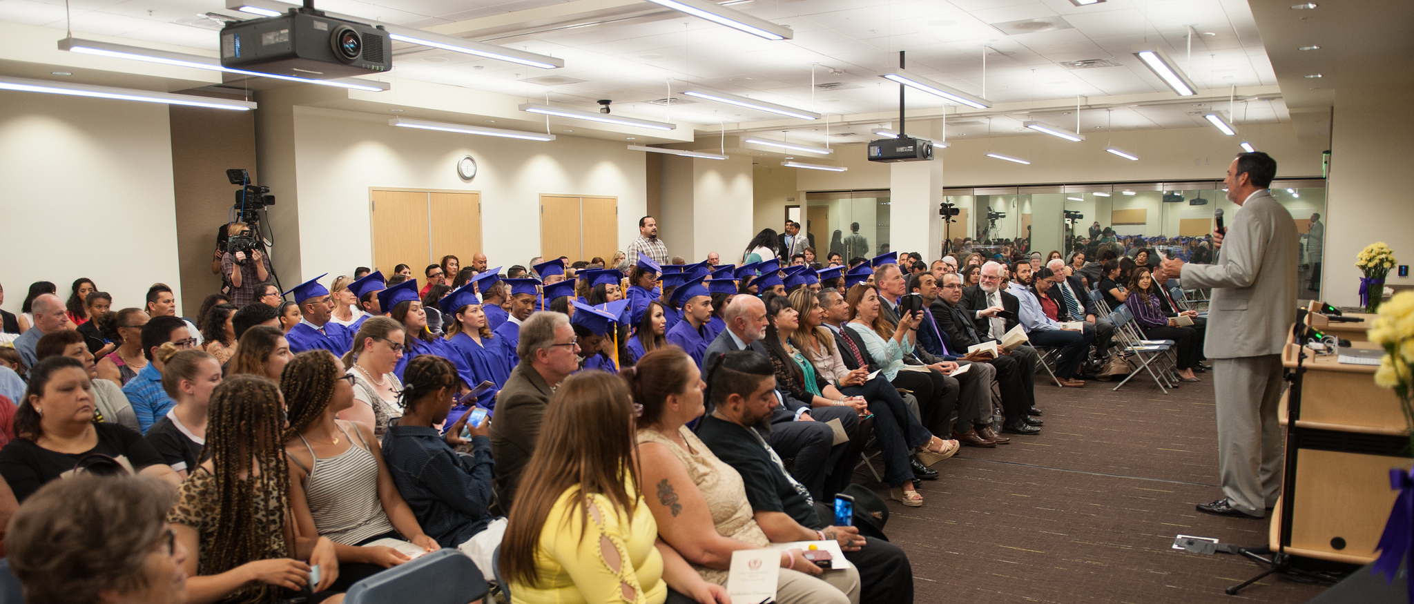 The pioneering first students of San Manuel Gateway College prepare to graduate on June 7, 2017.Photo provided by Loma Linda University Health