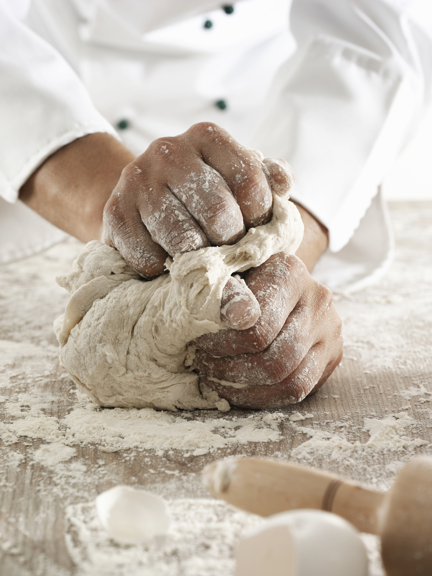 istock kneading dough
