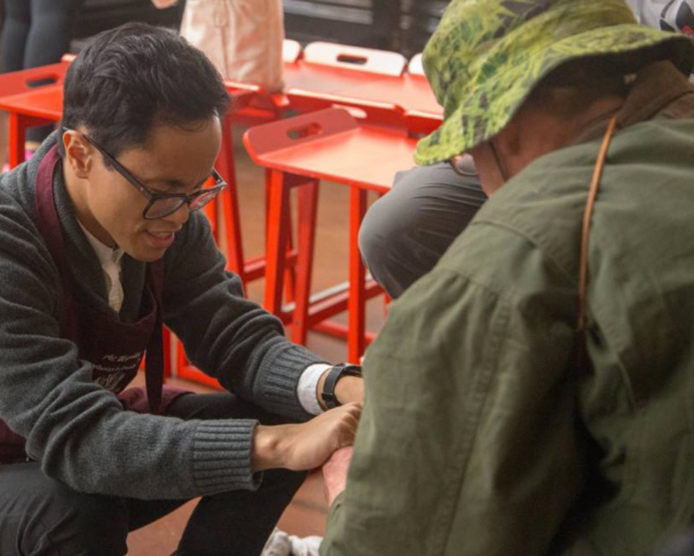 United Feet foot washing for homeless in Loma Linda, Calif. area