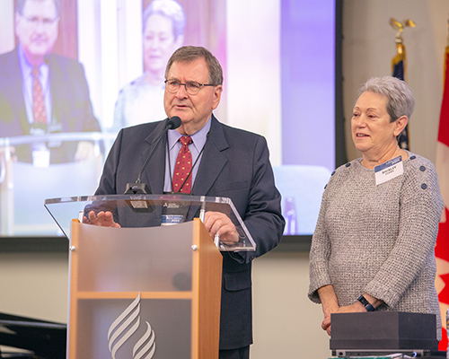 Tom and Shirley Evans at the 2018 Year-End Meetings