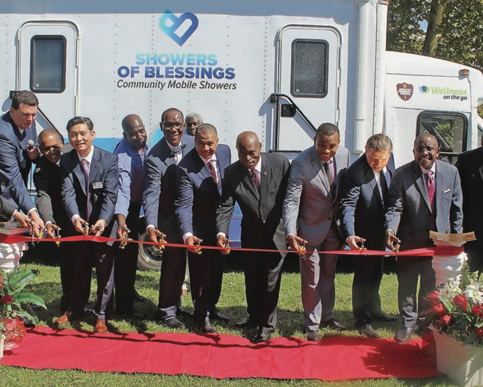 Showers of Blessing ACS van to help the homeless in NYC
