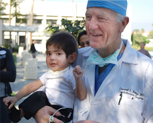 Dr. Leonard Bailey and a patient in 2009.