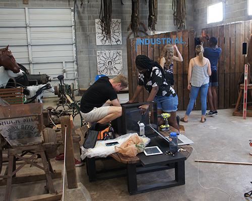 students work in Walla Walla museum