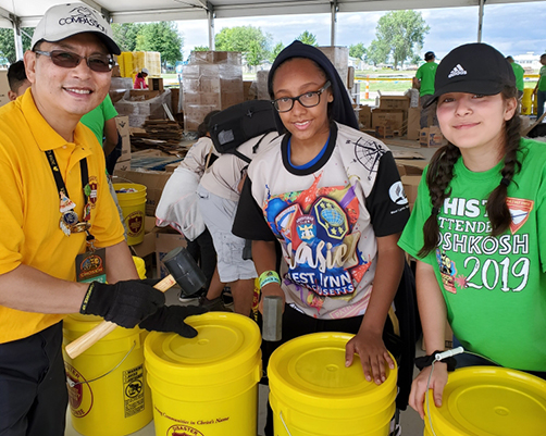 ACS golden buckets filled at Oshkosh