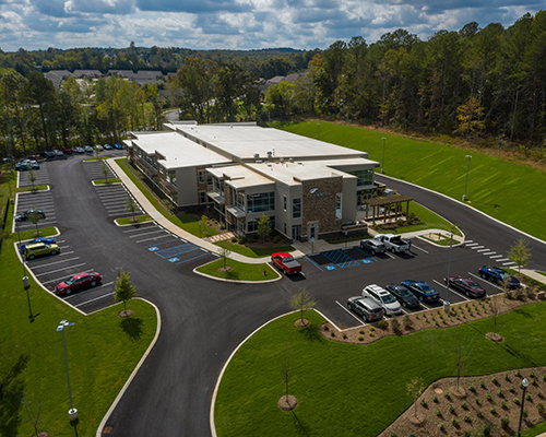 This is an aerial shot of the new headquarters for It Is Written, which will host its grand opening on Nov. 22, 2019.
