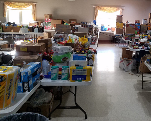 Oshkosh food donations after camporee