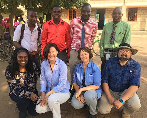 NAD education leaders meet with teachers from Ntangaye School, Malawi, Africa.