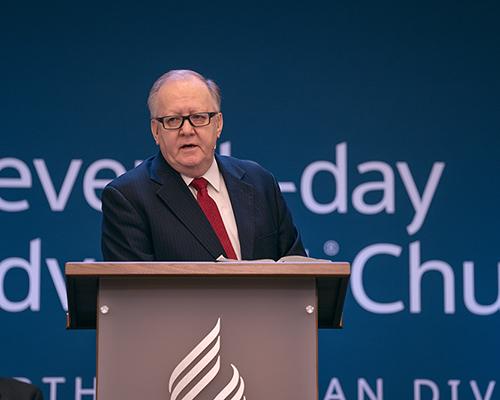 Dan Jackson, NAD President, preaches during Year-End Meeting Sabbath, Nov. 2, 2019