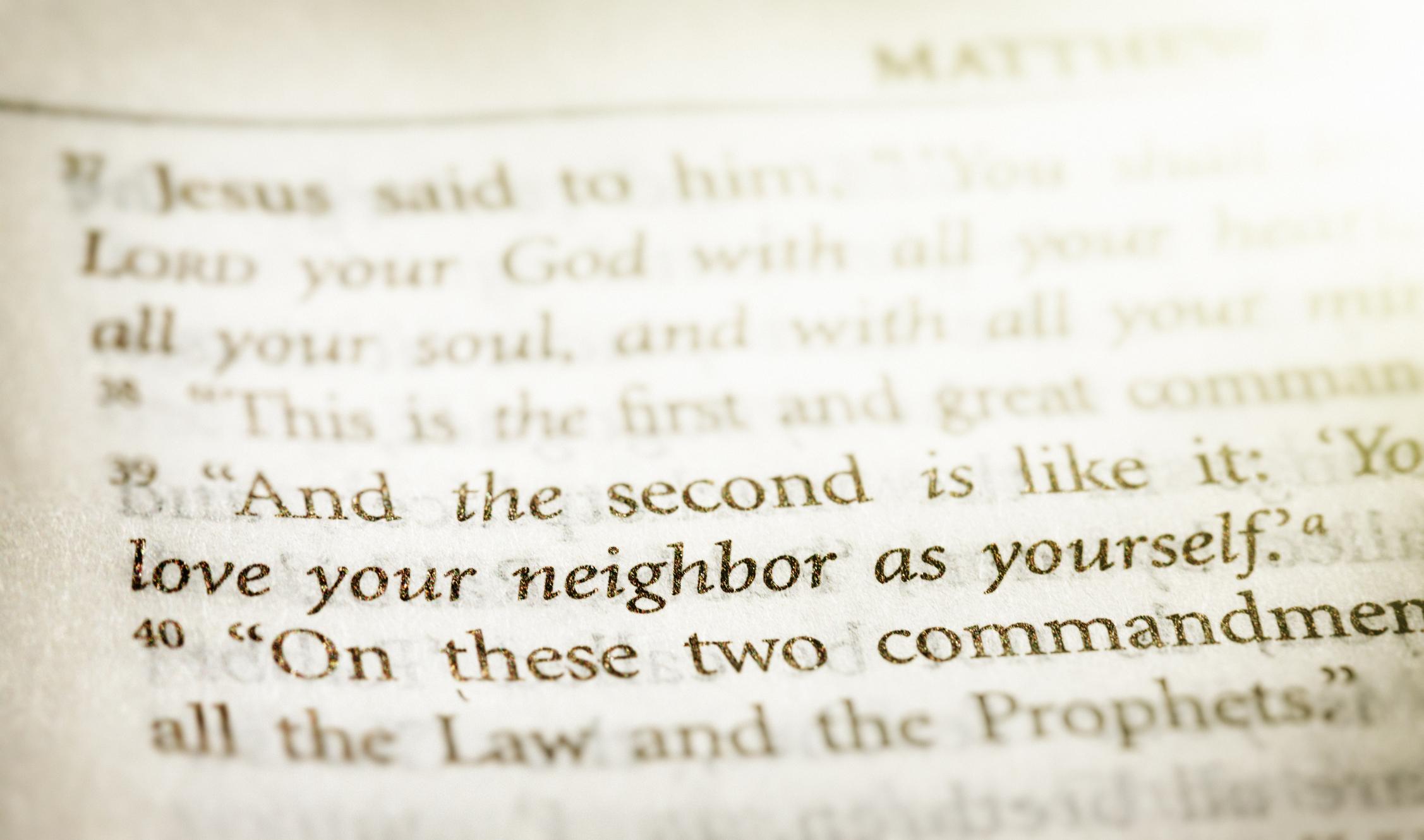 Matthew scripture stock photo