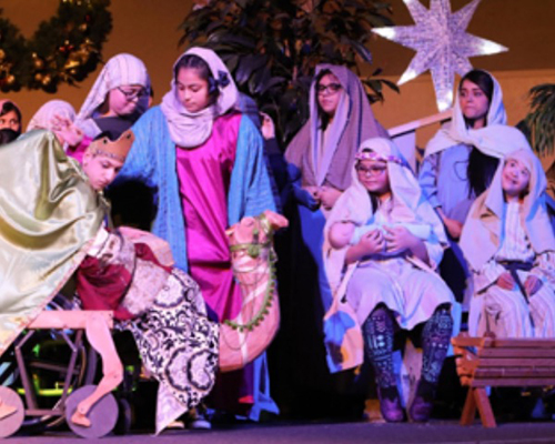 Christmas nativity talent show