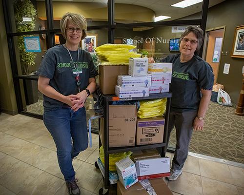 SAU nursing staff donate equipment to local hospital