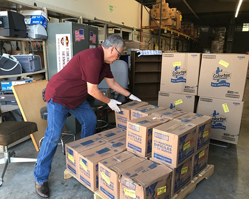 ACS food pantry in Texas