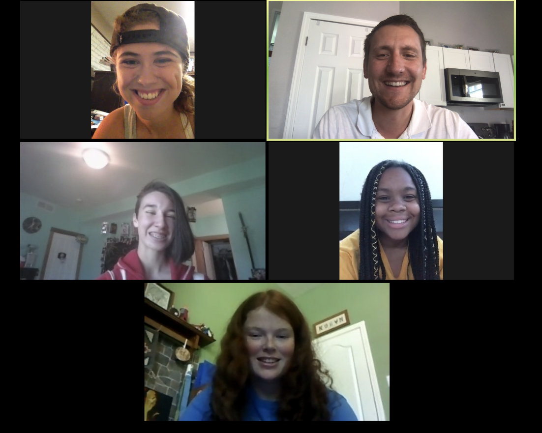 zoom call with matt hasty and some of the team preparing for tinytowns4jesus