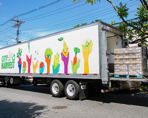 City of Harvest food bank truck