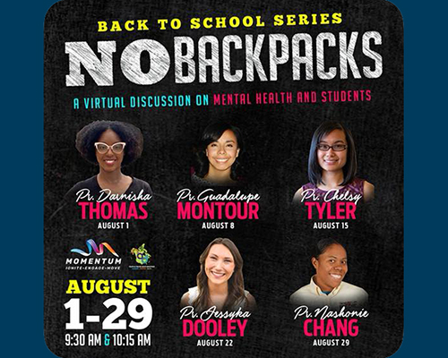 Youth Ministries No Backpack series
