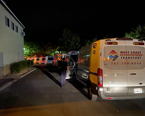 St. Helena Hospital evacuation