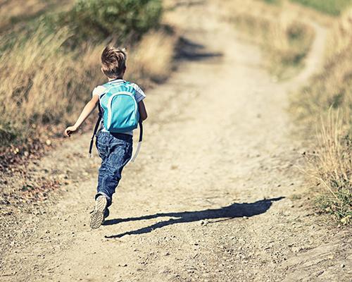 stock photo of boy running