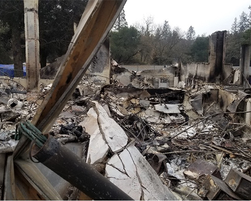 Foothill Seventh-day Adventist School Fire Damage