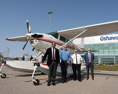 Adventist leaders in Canada with new Cessna plane