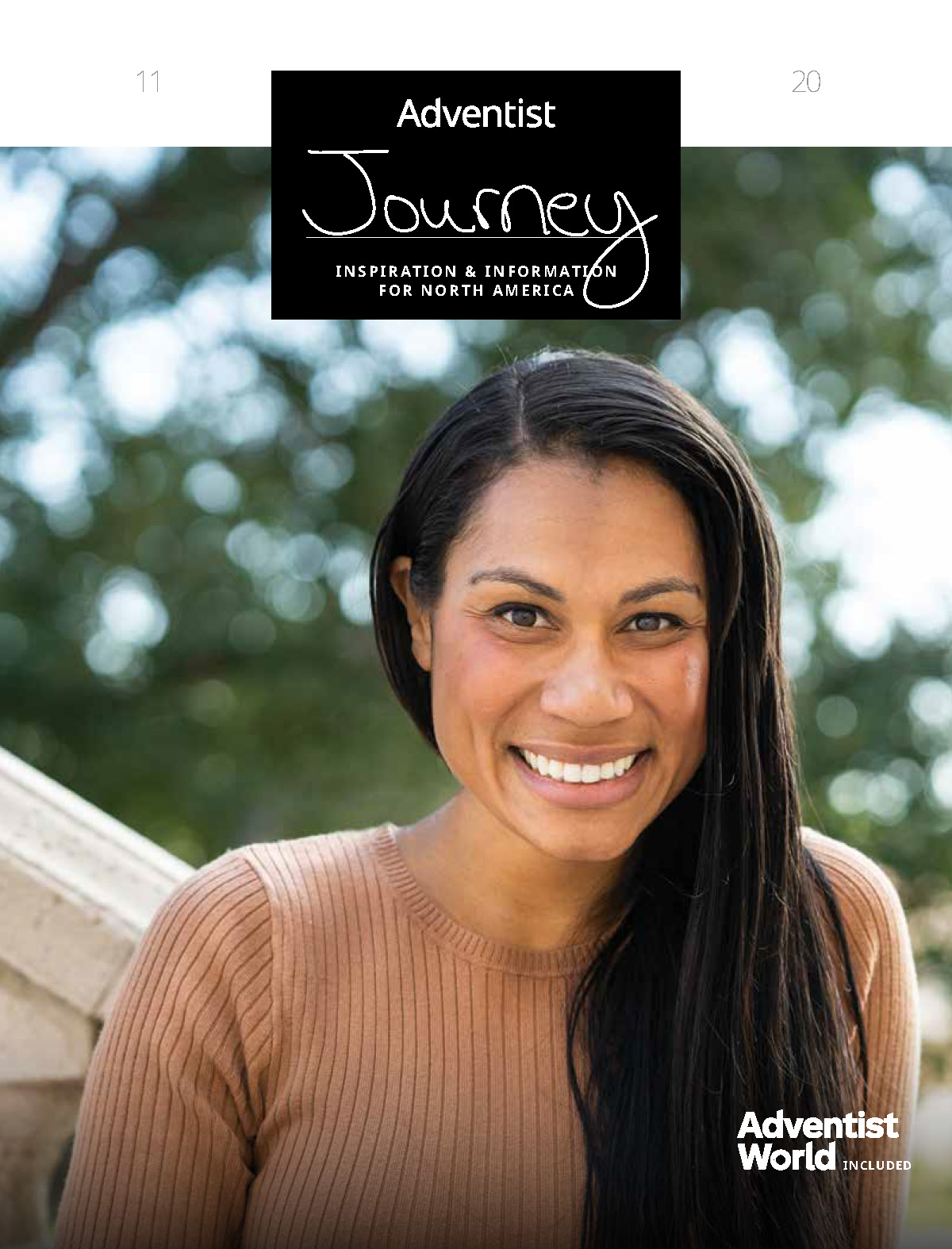 Heather Thompson-Day on the cover of Adventist Journey magazine