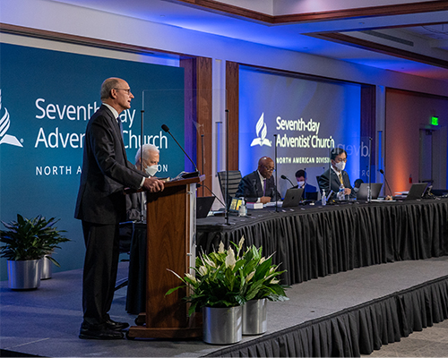 Ted N.C. Wilson, president of the General Conference of Seventh-day Adventists address NAD Executive Committee