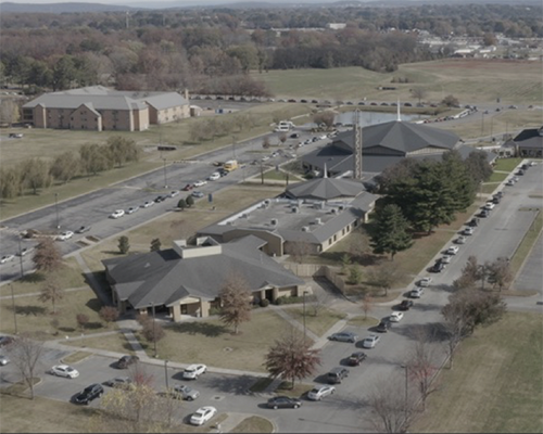 aerial view Oakwood University Church December 2020