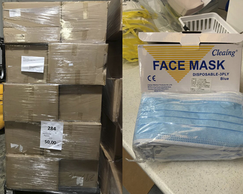 ACS receives face mask donation from AdventHealth