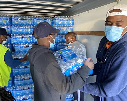 Oakwood University Church water bottle drive