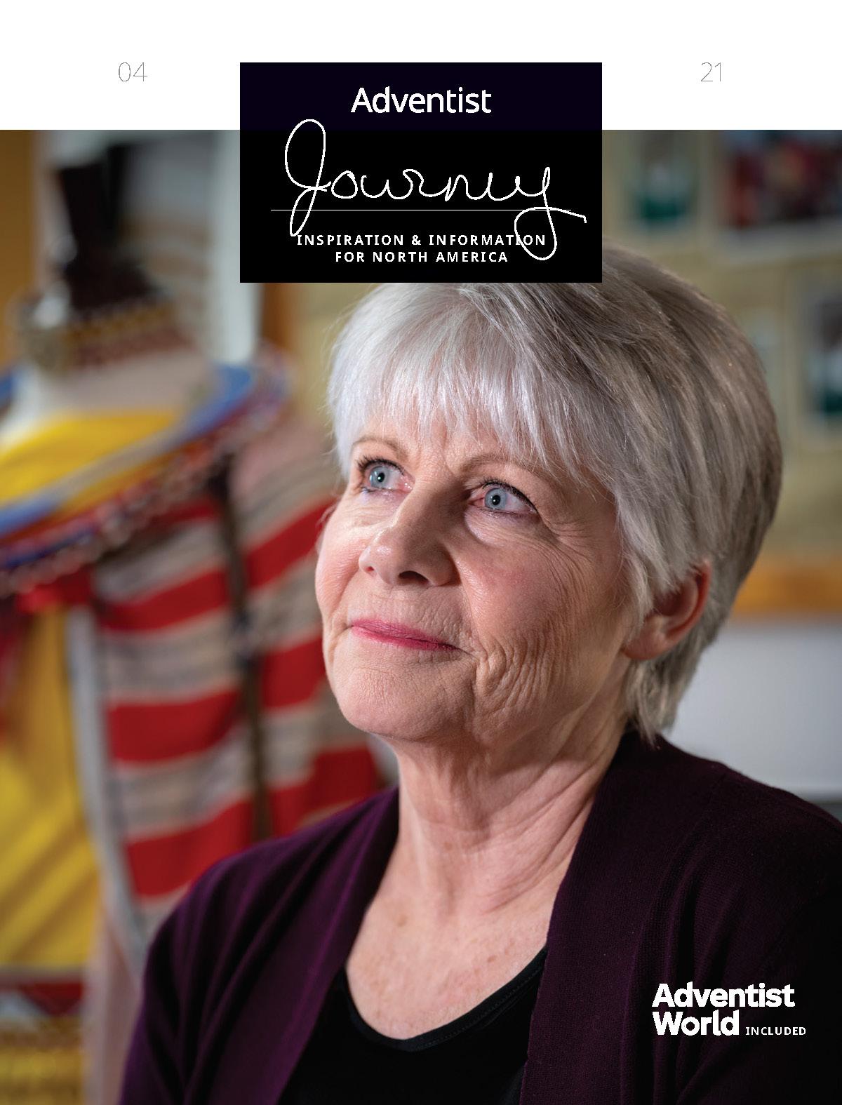 Adventist Journey magazine cover featuring Jan Latsha