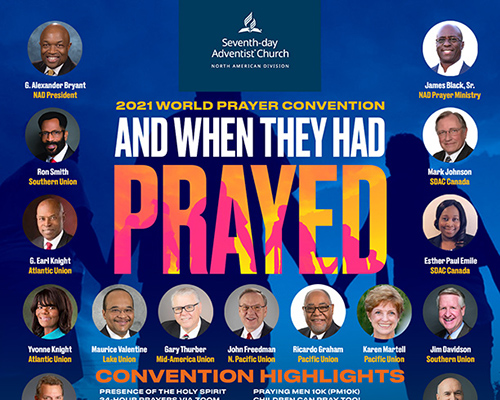 Prayer conference poster announcement
