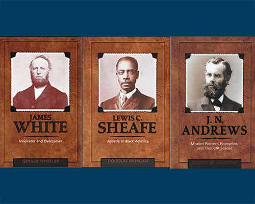 Adventist Biography Series three book covers