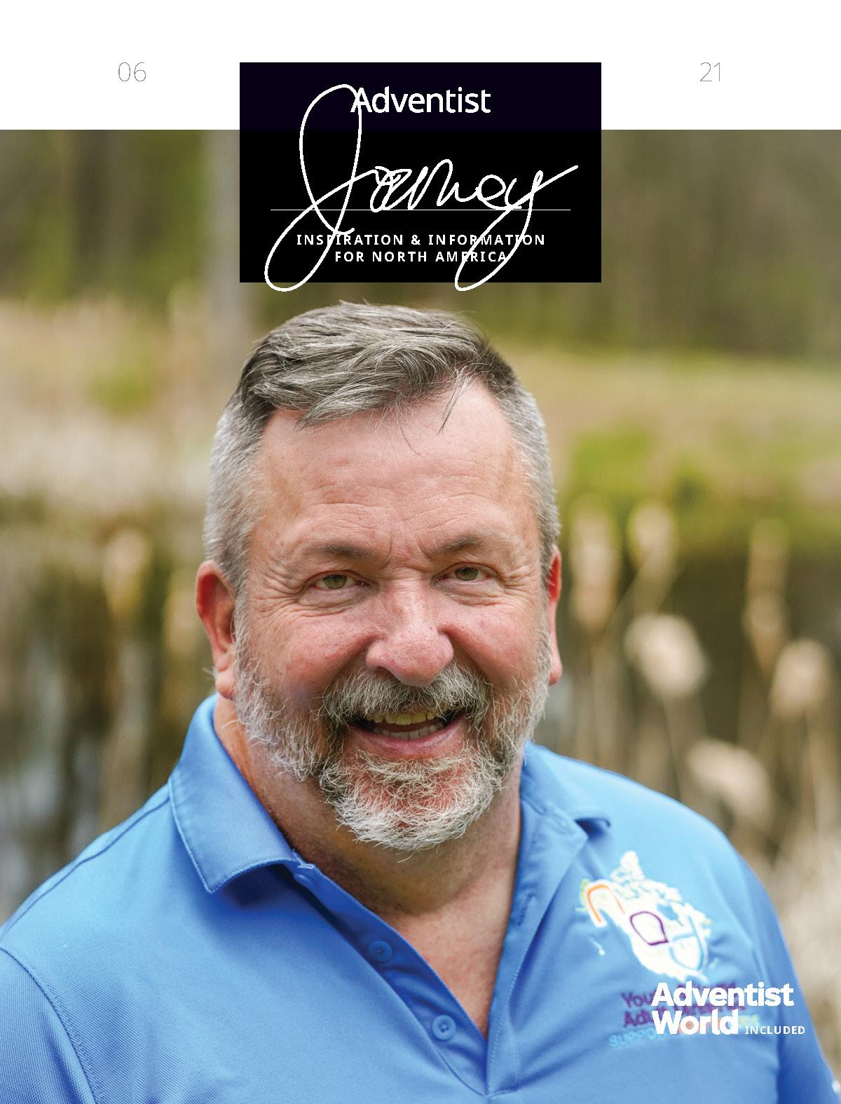 Adventist Journey magazine cover featuring Glen Milam