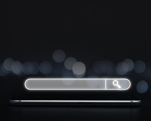 stock photo phone computer search