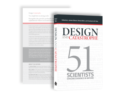 """Book cover of """"Design and Catastrophe: 51 Scientists Explore Evidence in Nature"""""""