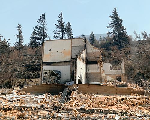 2021 Lytton fire house burned