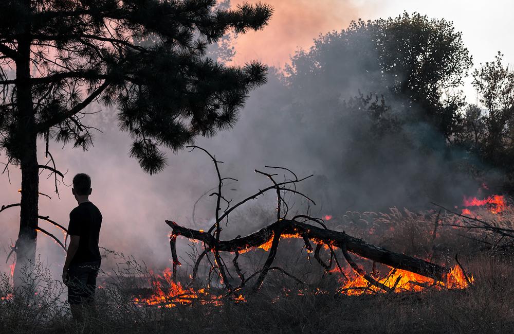 wildfire stock photo provided by ADRA International