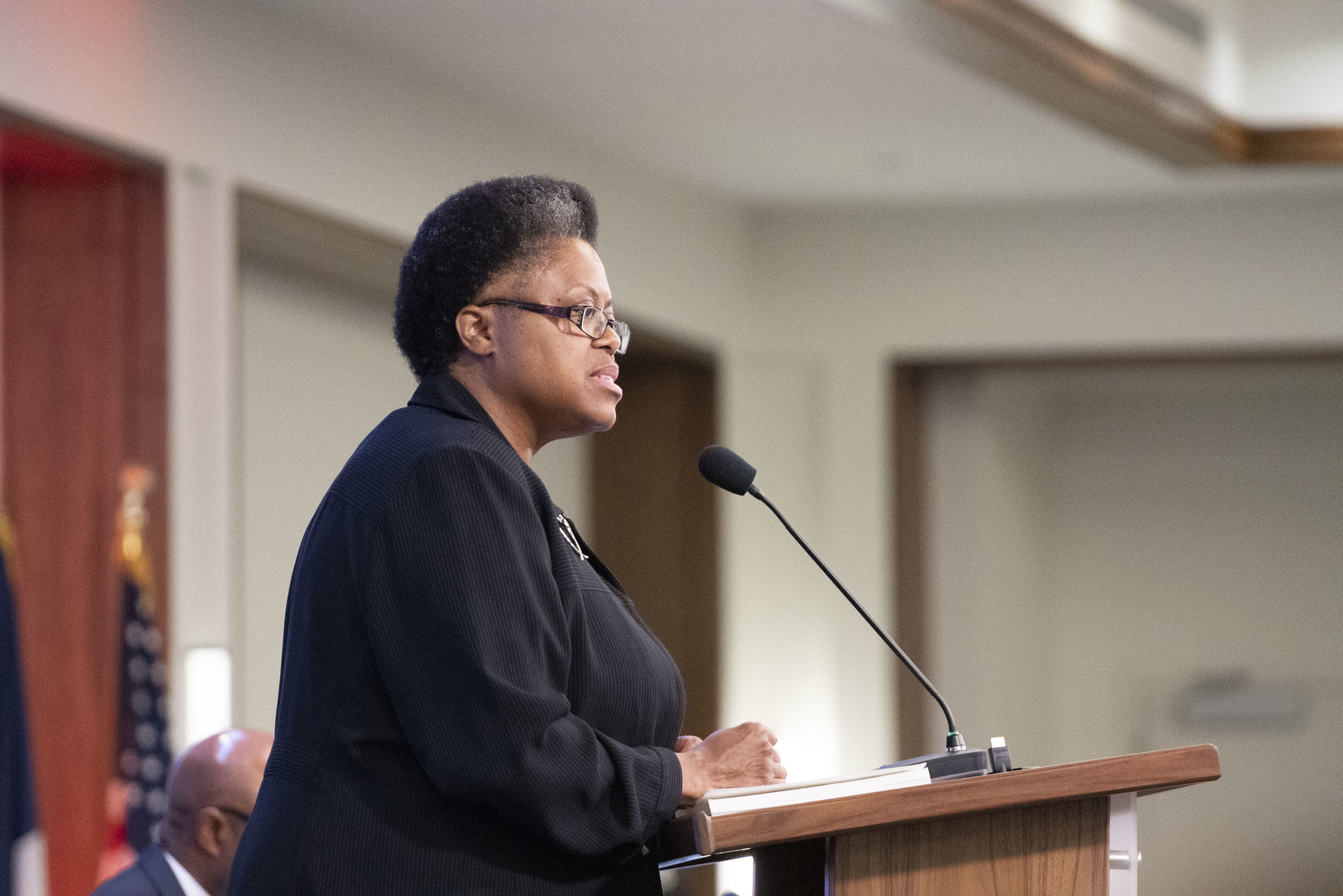 Carolyn Forrest represent a report on diversity in the NAD during the 2019 Year-End Meeting on Nov. 1. Photo by Dan Weber