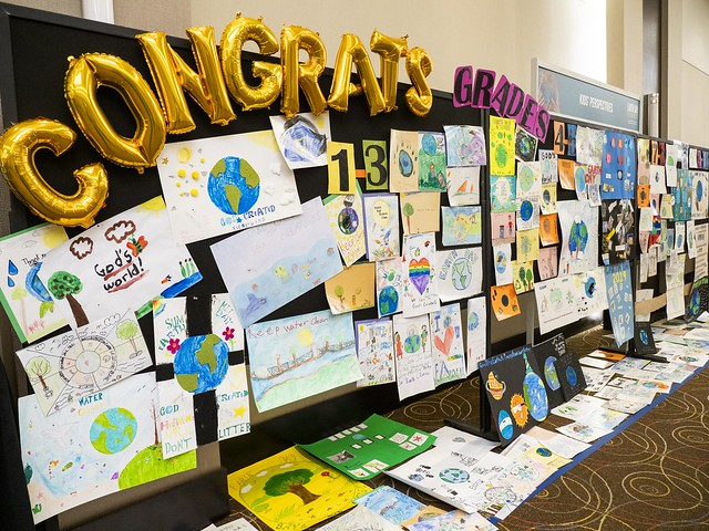 Posters created by Seventh-day Adventist students are displayed during the 2019 Earth Day Summit, held on April 21, 2019, and organized by the Ontario Conference of the Seventh-day Adventist Church. 2019 North American Division/Dan Weber