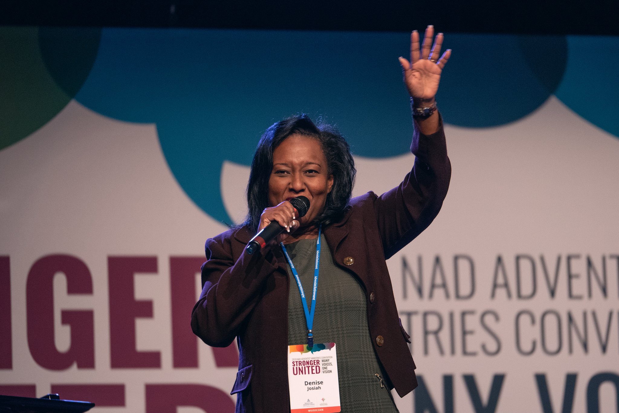 Denise Josiah sings during the 2019 AMC in Albuquerque. Photo by Pieter Damsteegt