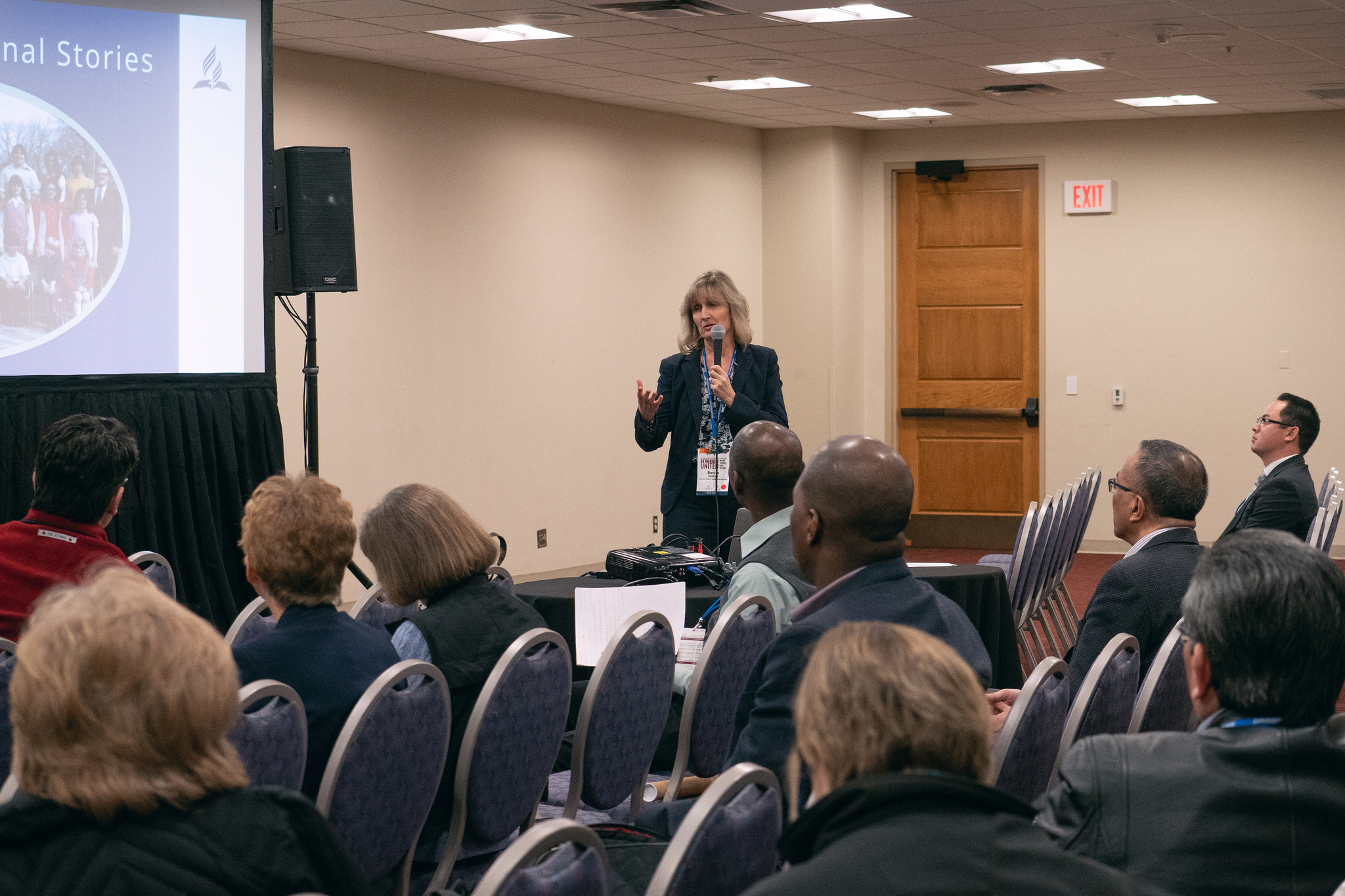 Bonita Joyner Shields, new NAD Stewardship director, presents a breakout session on stewardship during the 2019 Adventist Ministries Convention. Photo by Pieter Damsteegt