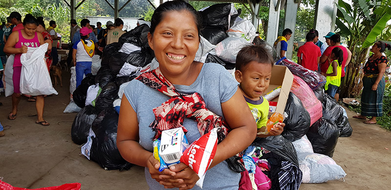 ADRA Canada volcano victim in Guatemala receives assistance