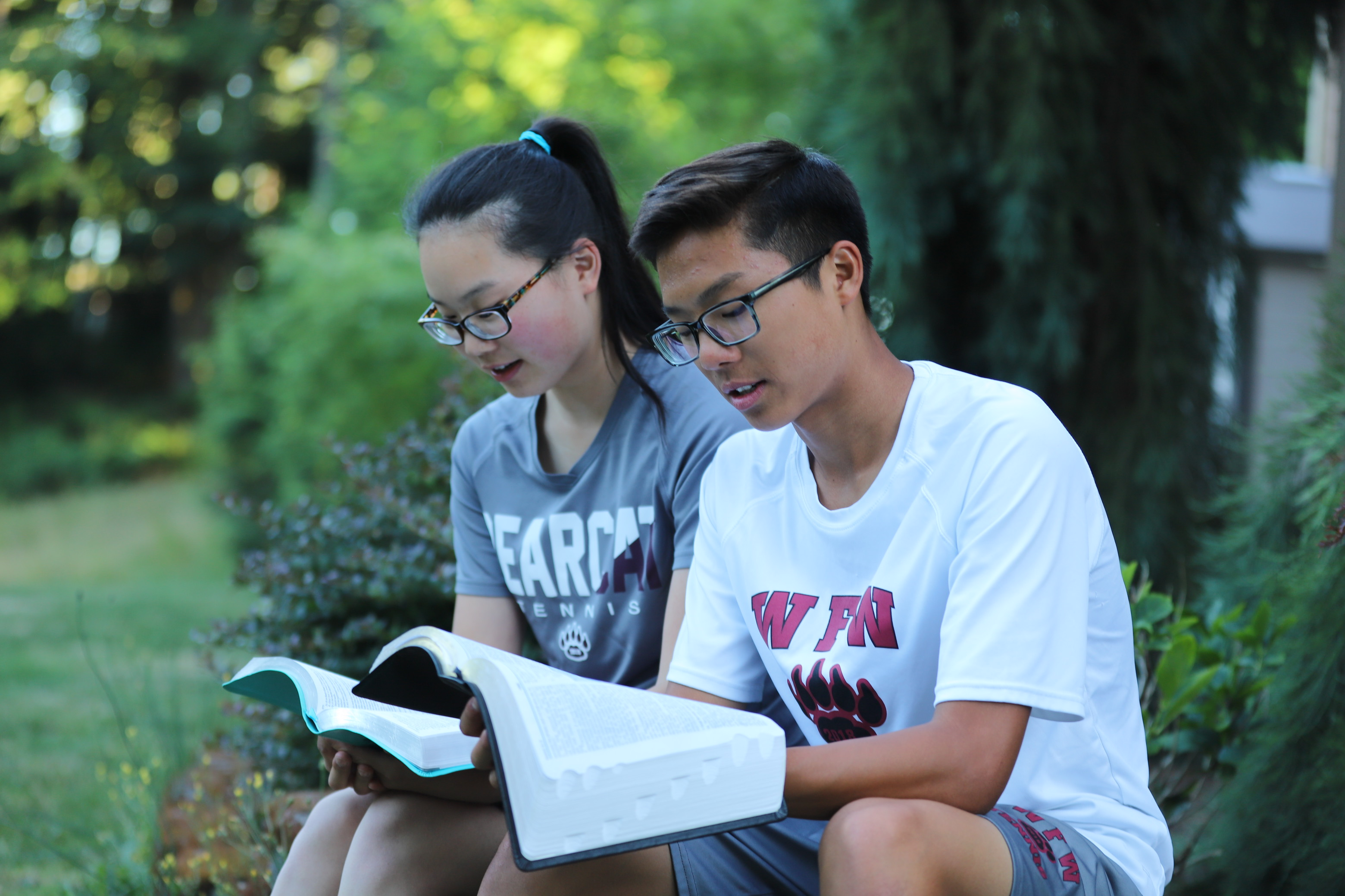 Joseph and Joelle Chung study the Bible