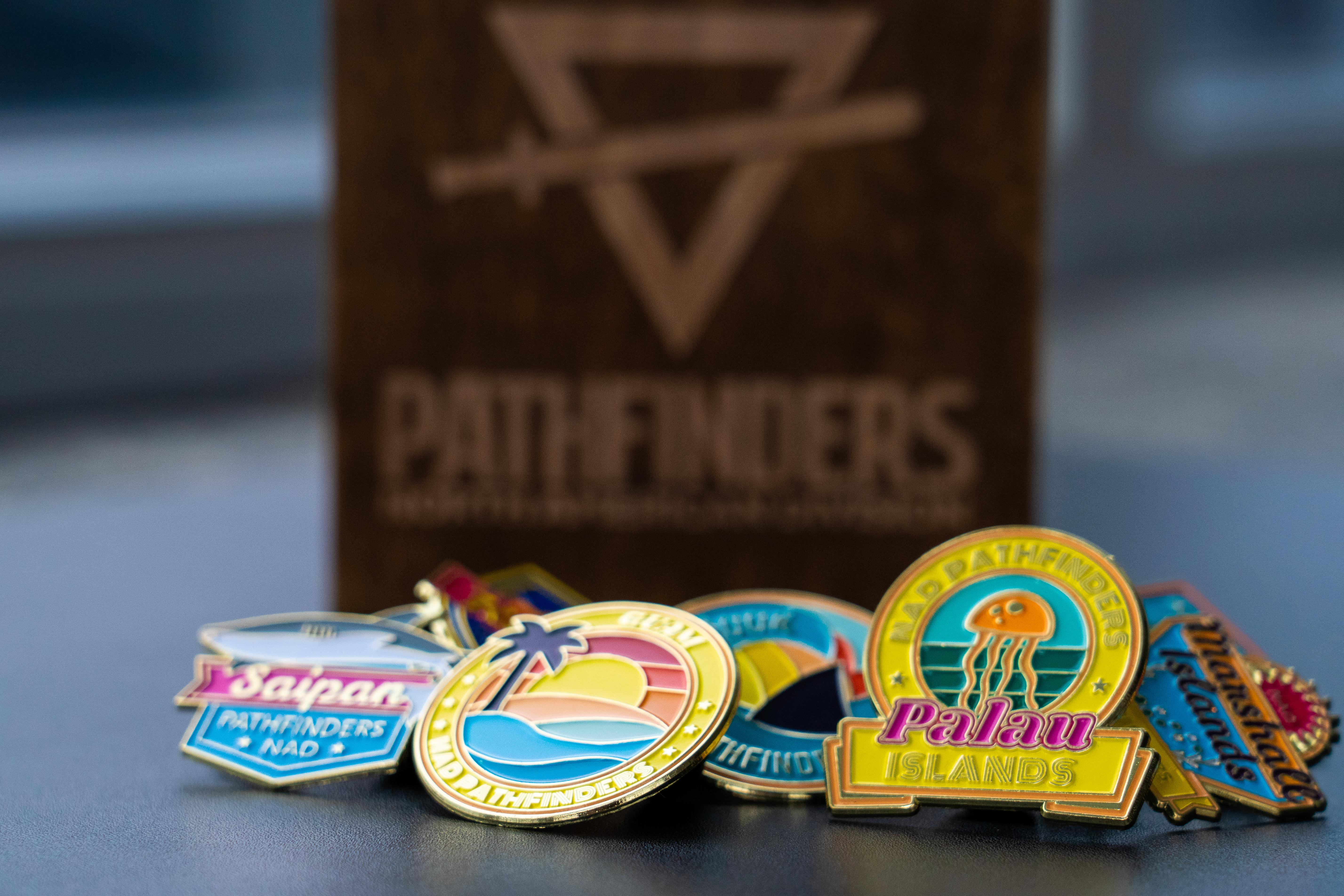 Oshkosh CHOSEN 2019 Pathfinder International Camporee David spinner Pin