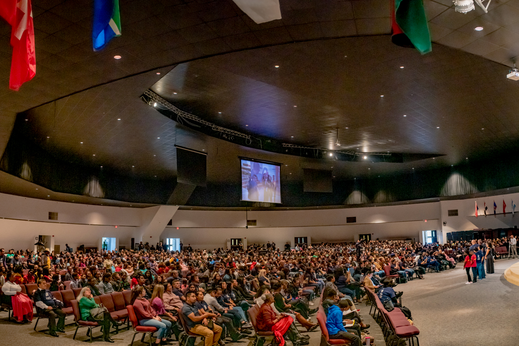 Youth rally at the World Harvest Outreach Seventh-day Adventist Church in Houston.
