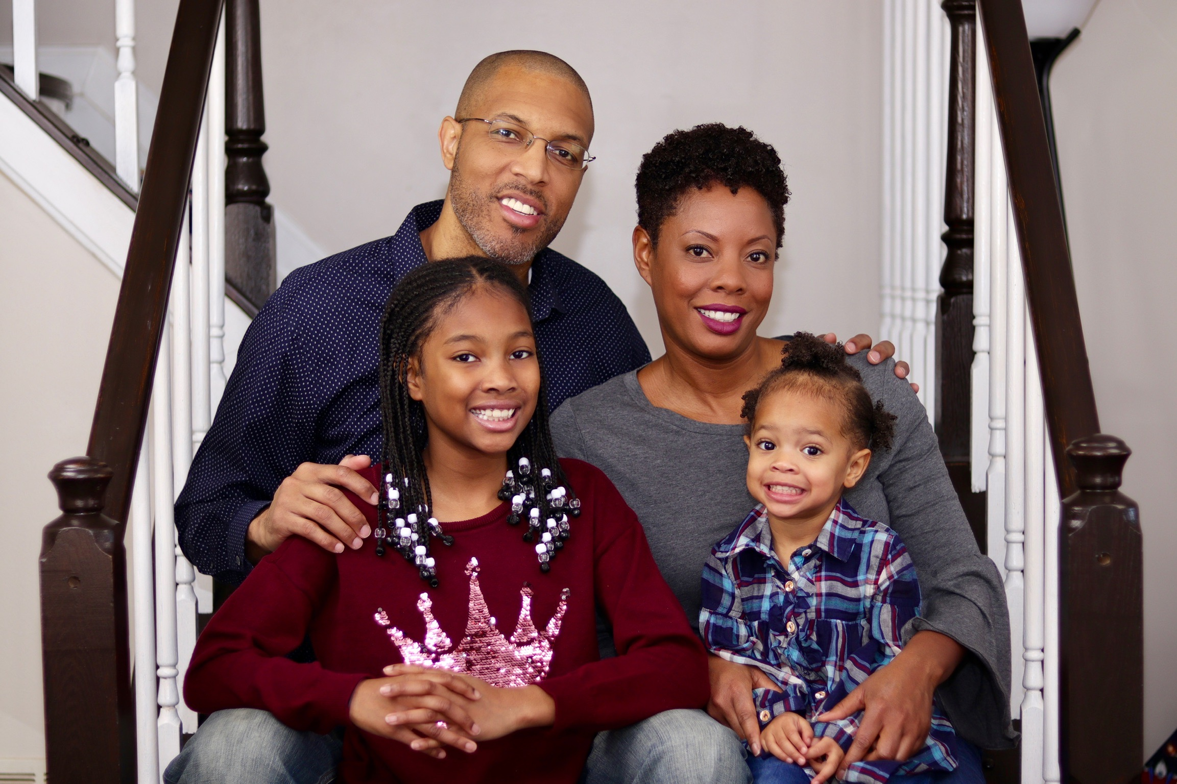 a more recent photo of SaMonna Watts, her husband, and their two daughter. Photo provided by SaMonna Watts