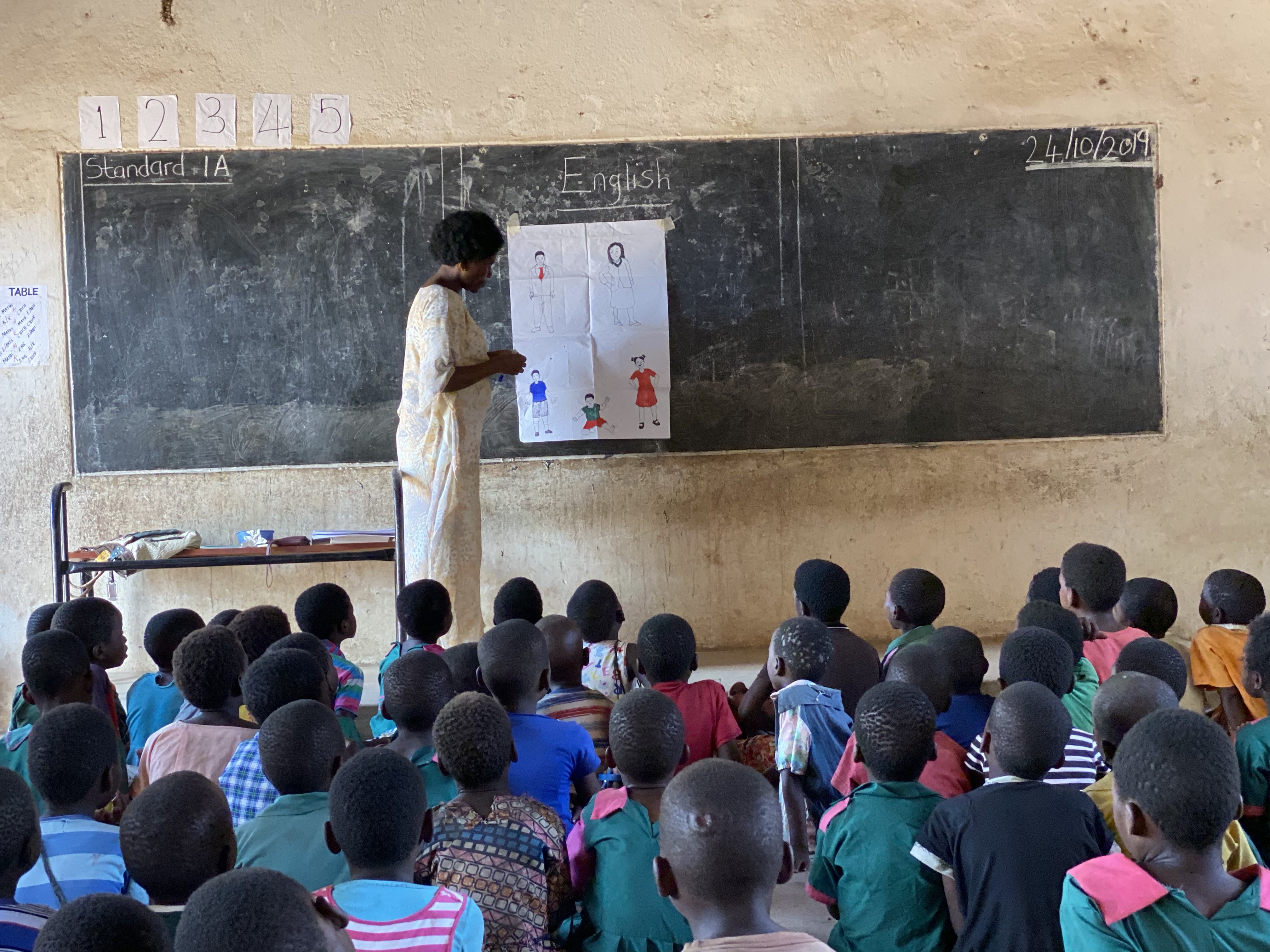 Classroom of students in Malawi