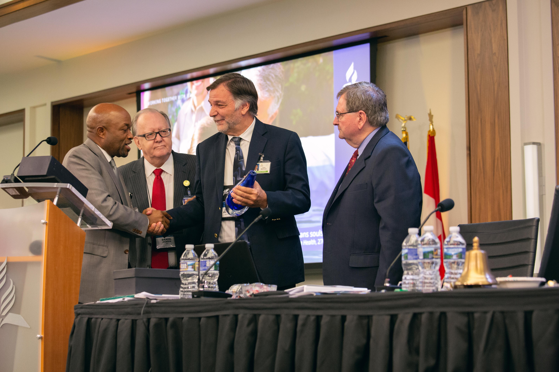 John Matthews awarded at 2018 Year-End Meeting