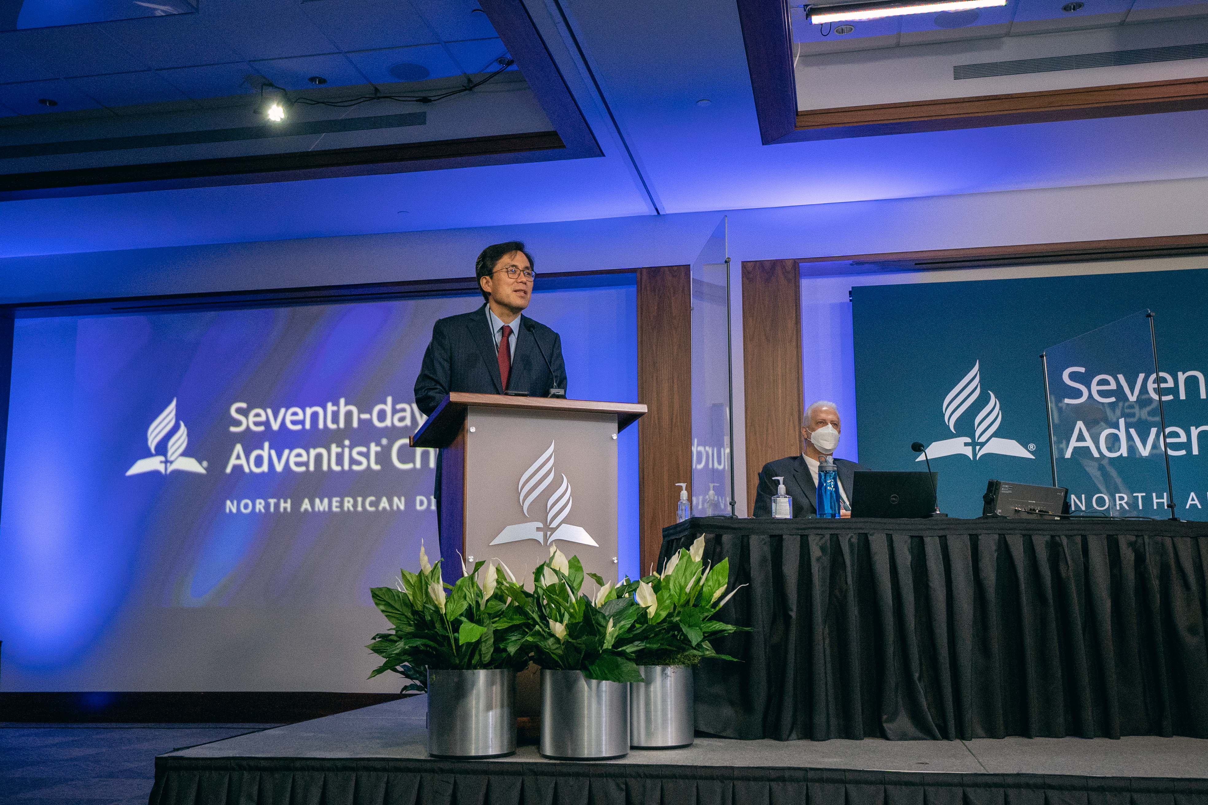 Kyoshin Ahn, NAD executive secretary, presents during the 2020 NAD Year-End Meeting. Photo: Pieter Damsteegt
