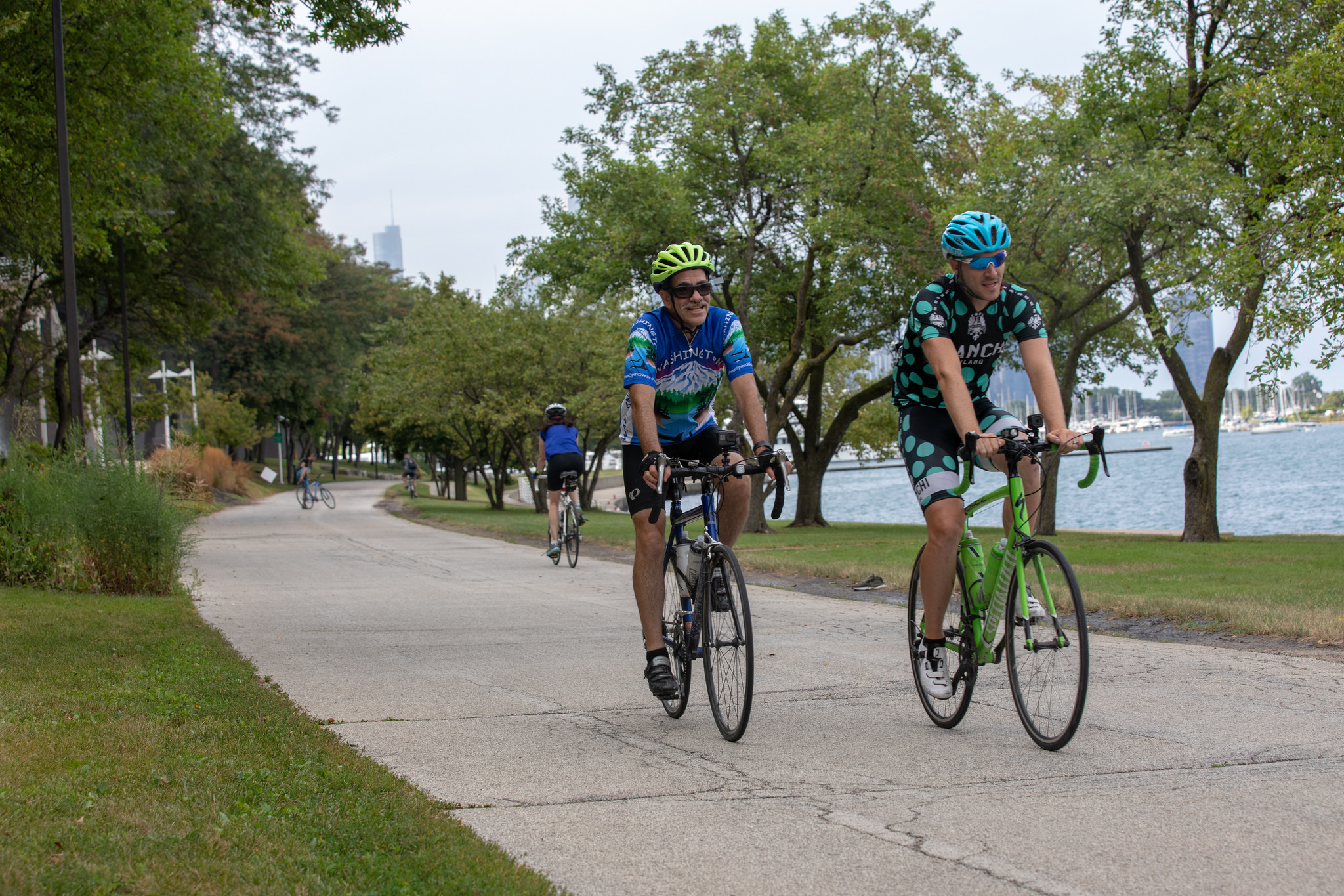 Monte and Craig Saxby ride bikes to Chicago