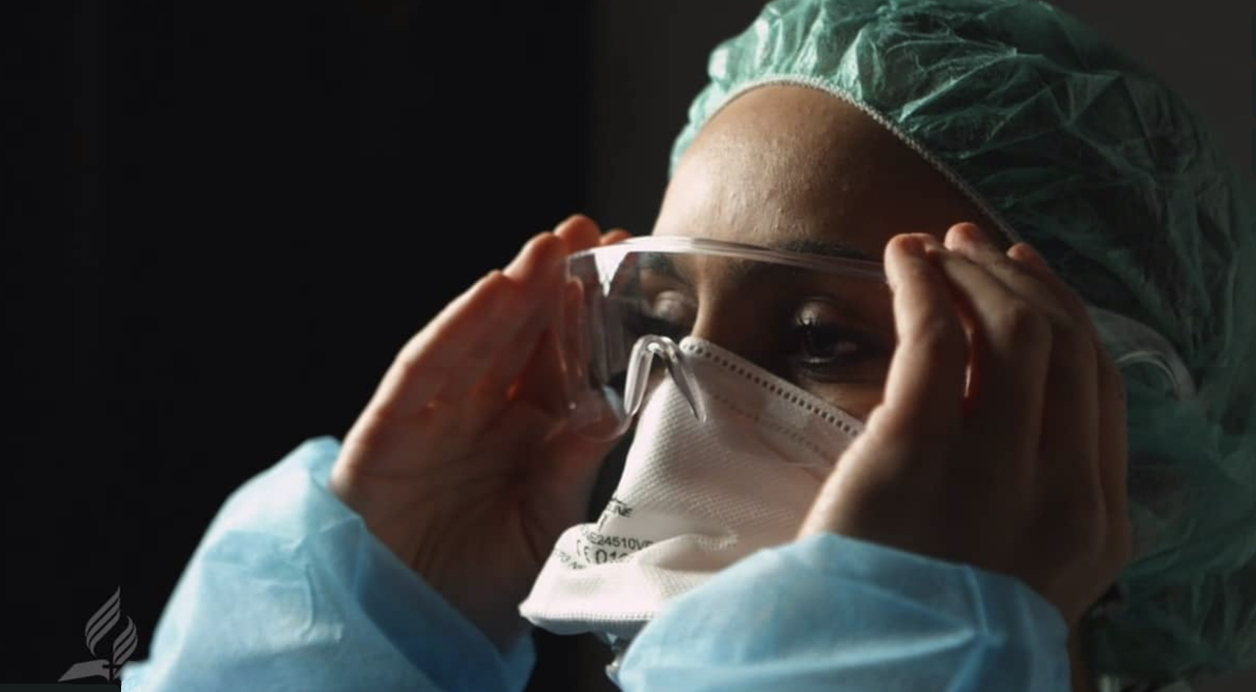 Dear Coronavirus screen shot of medical worker